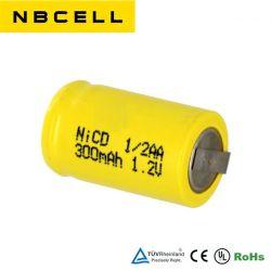 NiCd 1,2V 1/2AA 300 Мач Ni-CD 200 Мач