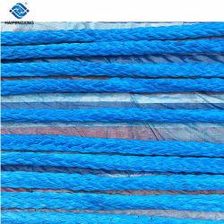 Синий цвет 12 ветви UHMWPE швартовный трос синтетический трос лебедки