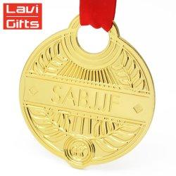 Commerce de gros Personnaliser cadeau personnalisé de l'or en métal Kids Cup Sport Awards enfants Médaillon de la médaille avec ruban
