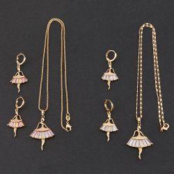 925銀製または黄銅及びCZの美しい女の子デザインネックレスのイヤリングの方法宝石類の一定の宝石類
