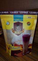 Saco de plástico para acondicionamento de alimentos, medicamentos, café, arroz, feijão, trigo em pó, leite em pó desnatado Saco de Embalagem Saco de suporte com placa de reforço e de fecho zip