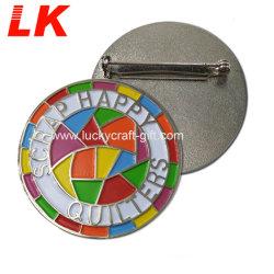 Commerce de gros de bonne qualité de l'épinglette de badge personnalisé avec la goupille de sécurité