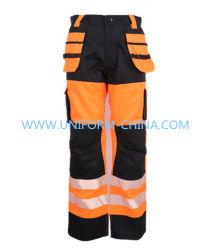 Contraste de color Multi-Pocket pantalones hombres T/C 65/35 245gsm