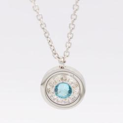 مجوهرات الفولاذ المقاوم للصدأ الكلاسيكية قلادة دائرية من الكريستال