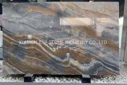 Luxury Branco/Preto/Amarelo/Prata/bege/Azul/Cinza Travertinos/calcário/Onyx/Quartz/Marble para bancada/Flooring/Piso/laje de pedra de pavimentação em mosaico