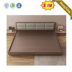 Кожаный изголовье кровати деревянные дома Мебель, размещение в гостинице короля королевы дважды одного размера спальни кровати