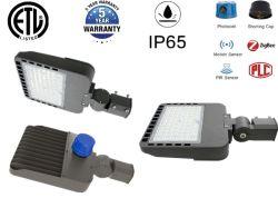 ETL LED Shoebox 가벼운 쉬운 임명 200W 주차장 빛 미끄러짐 정비공 마운트 LED 가로등