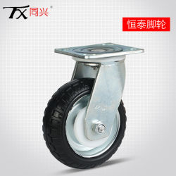 """4 """"鋼鉄コアゴム製旋回装置の足車の車輪"""