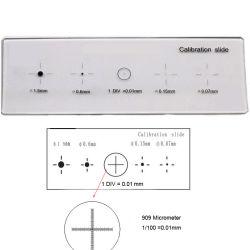 909 DOT et le stade du pointeur en croix différenciation multifonction lame de microscope optique précise l'étape de la plaque d'un micromètre