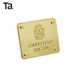 Haut Qaulity personnalisée en usine Die Casting plaque logo en métal pour les sacs à main