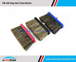 Los cerdos naturales cabello espuma caliente la cabeza del cepillo de las ventas a Australia /Aluminio Lavado de coches el cepillo con tornillos chapados en rebajado