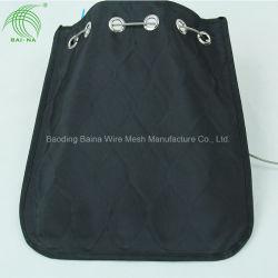 Bolso de malla de alambre de acero inoxidable de Black Metal antirrobo el Cable bolsa de malla