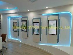 مشغل وسائط الإشارات الرقمية LCD الداخلي المزود بشاشة LCD للتركيب على الحائط مقاس 55 بوصة شاشة عرض إعلانية أفقية تعمل باللمس ومتعددة الوظائف