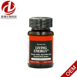 Stimulant vivant de l'énergie libre 75 Veggie comprimés - supplément diététique