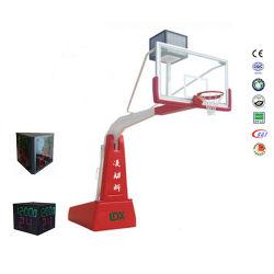 Strumentazione professionale della concorrenza che piega la strada privata portatile dei cerchi di pallacanestro