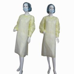 Não Tecidos descartáveis avental de PP avental de plástico