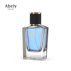 Diseño de los hombres de lujo material de vidrio de 60ml frasco de perfume de vidrio para la venta