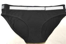 Biancheria intima molle di Panty della pianura del tessuto di alta qualità per la biancheria intima del nero del riassunto del cinturino della macchia delle donne