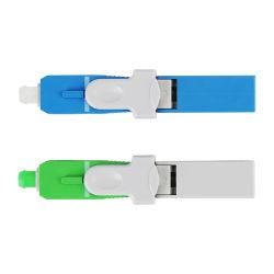 Fibre optique FTTH Hanxin K3 Adaptateur rapide de l'équipement Indoor St FC SC Duplex LC UPC connecteur rapide du câble plat de l'APC