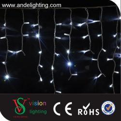 Cable de goma Icicle decoración de la luz de LED blanco.