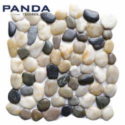자연적인 자갈 돌 조경 돌 검정 강 자갈 돌 지면 도와