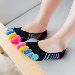 La mujer Invisible Tobilleras cinco dedos del pie de los calcetines de colores de Verano de la convergencia de las mujeres calcetines de algodón Shallow-Mouthed Invisible
