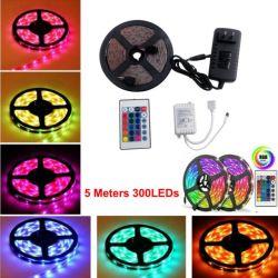 Programmable 60LED SMD5050/M Pleine couleur RVB haute en couleurs de Magic WS2811 5M /rouleau de bande LED lumière flexible