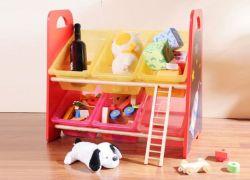 Juguete de madera bandeja de plástico Bandeja de almacenamiento de juguetes muebles cuadro Ordenar