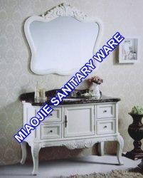 120см старинной цельной древесины дуба туалетный столик в ванной комнате (MJ-426)