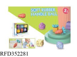 Sfere di gomma per le mani Giocattoli per il bagno del bambino sfere morbide per il bambino E i bambini