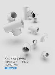 Era el plástico/PVC estándar DIN DVGW certificado el tubo de presión Montaje DIN ISO1463 PN10 Pipe