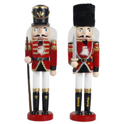 Оптовая торговля поверхность стола традиционных кукольных деревянных солдат Щелкунчик цифры рождественские украшения