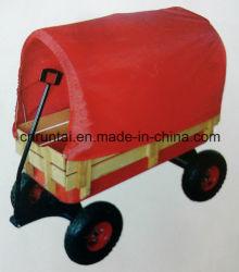 木の皿の空気車輪の赤ん坊か子供ワゴンツールのカート