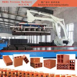 Grande queima de carga de máquina para fabricação de tijolos de máquina de empilhamento de tijolos verde