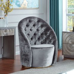 Stühle ohne Rad-modernen Freizeit-Schwenker-Sofa-Samt-Gewebe-Luxuxstuhl für Wohnzimmer