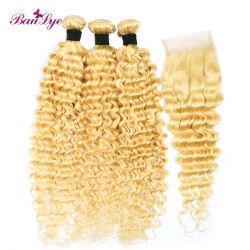 Хорошее качество закрытие стиле 613 4*4 кружевной закрытие Kinky завивки волос
