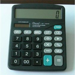 Calculator van de Desktop van de Macht van de Batterij van de Calculator van het cijfer de Basis Zonne Dubbele