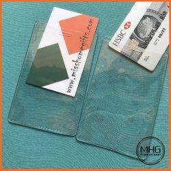 ビニールの透過プラスチック縦のバッジIDのクレジットカードのホールダー