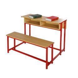耐久の二重人の使用の学校家具学生のコンバインの机および椅子の家具