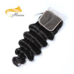 Ослабление Бразилии глубокую волны волос бразильского кружева передняя накладка наконечник троса