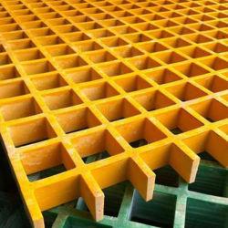유리섬유 강화 플라스틱 그레이팅 복합 FRP 그라우트 Pultred 트렌치 커버 플레이트 38 * 38 * 38 유리섬유 갈기