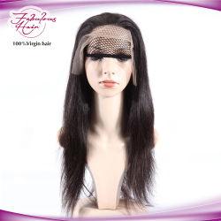 브라질 사람의 모발 정면 레이스 가발 흑인 여성을%s 똑바른 Virgin 머리 가발