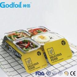"Umwelt Aluminium Folie Lebensmittelbehälter 7"" Board Lids Printing Logo"
