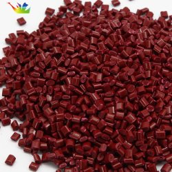 ABS, pp, PE, PS, asse, animale domestico, PA, materia prima di plastica di plastica di colore rosso del mattone del granello del PC delle mattonelle della resina