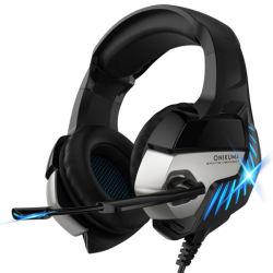 Doppeltes 3.5 mm-Ohrenpfropfen-Zusatzkabel-Spiel-Kopfhörer für Computer