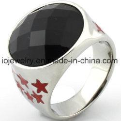 Os melhores jóias Dom para Padre Anéis de estrela com preto Ágata