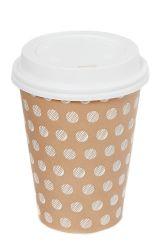12 [أز] سفر فنجان. كوب ورقي. كوب قهوة وغطاء يمكن التخلص منه