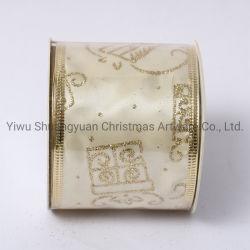 La decorazione del nastro di natale per la decorazione della festa nuziale di festa fornisce i regali del mestiere dell'ornamento dell'amo