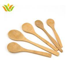 La mezcla perfecta de madera Mini decorativos personalizados cuchara de bambú grabado