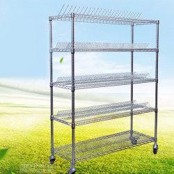 高品質の炭素鋼SMTの反空電ESD SMD物質的なPCBの巻き枠の記憶の棚付けラックトロリーカート